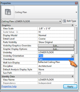 how to change orientation of tee revit