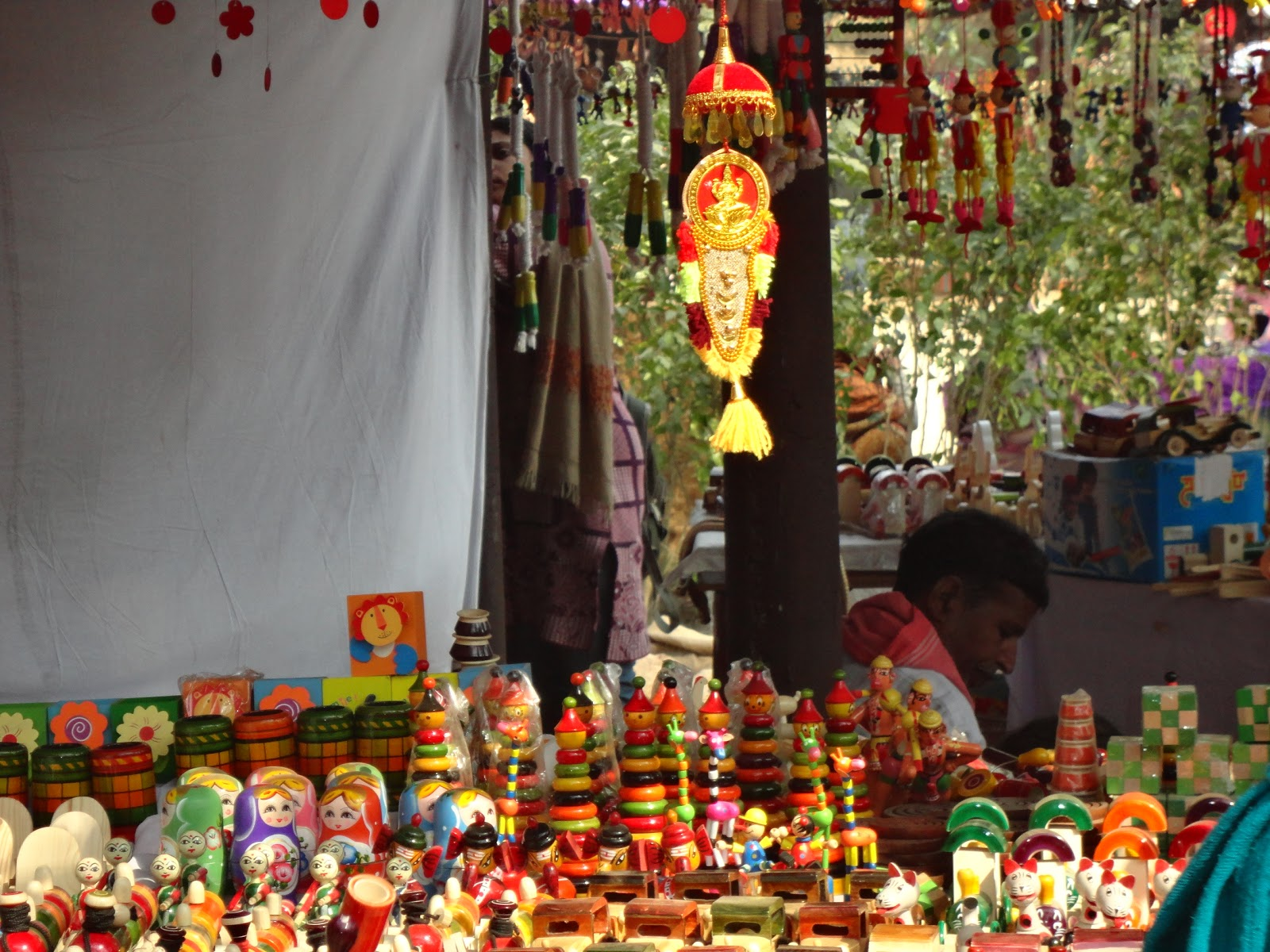 Wooden Toys at Surajkund Crafts Mela,India