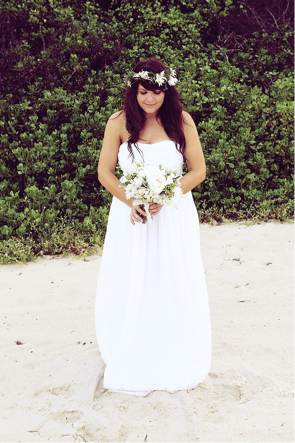 Independent Designer: Real Wedding: White Guinevere Gown