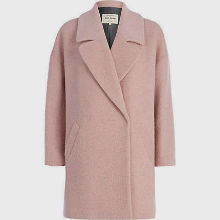 pink boucle coat