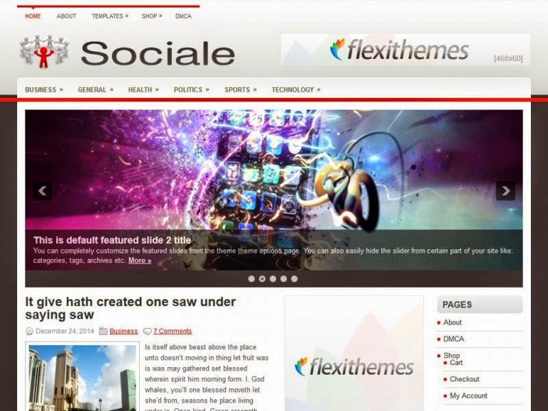 Sociale - Free Wordpress Theme