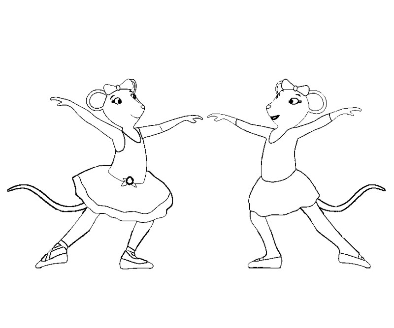 angelina ballerina coloring page - Angelina Ballerina Coloring Pages