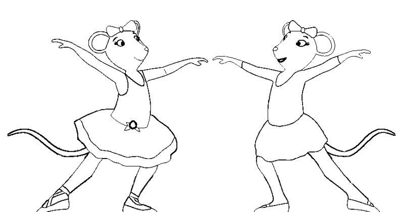 Angelina Ballerina Coloring Page