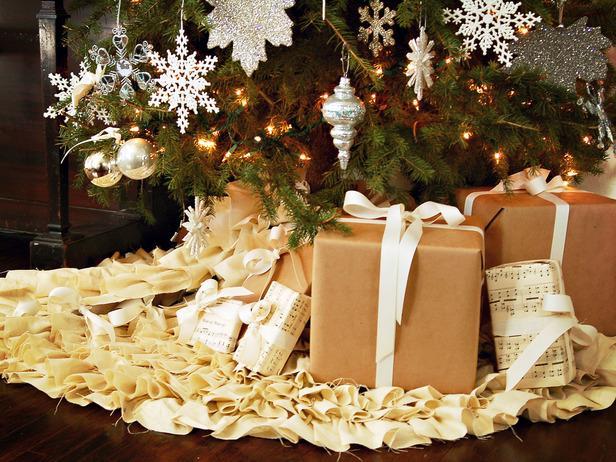 Cubre pie o falda para el arbol de Navidad (sin coser)