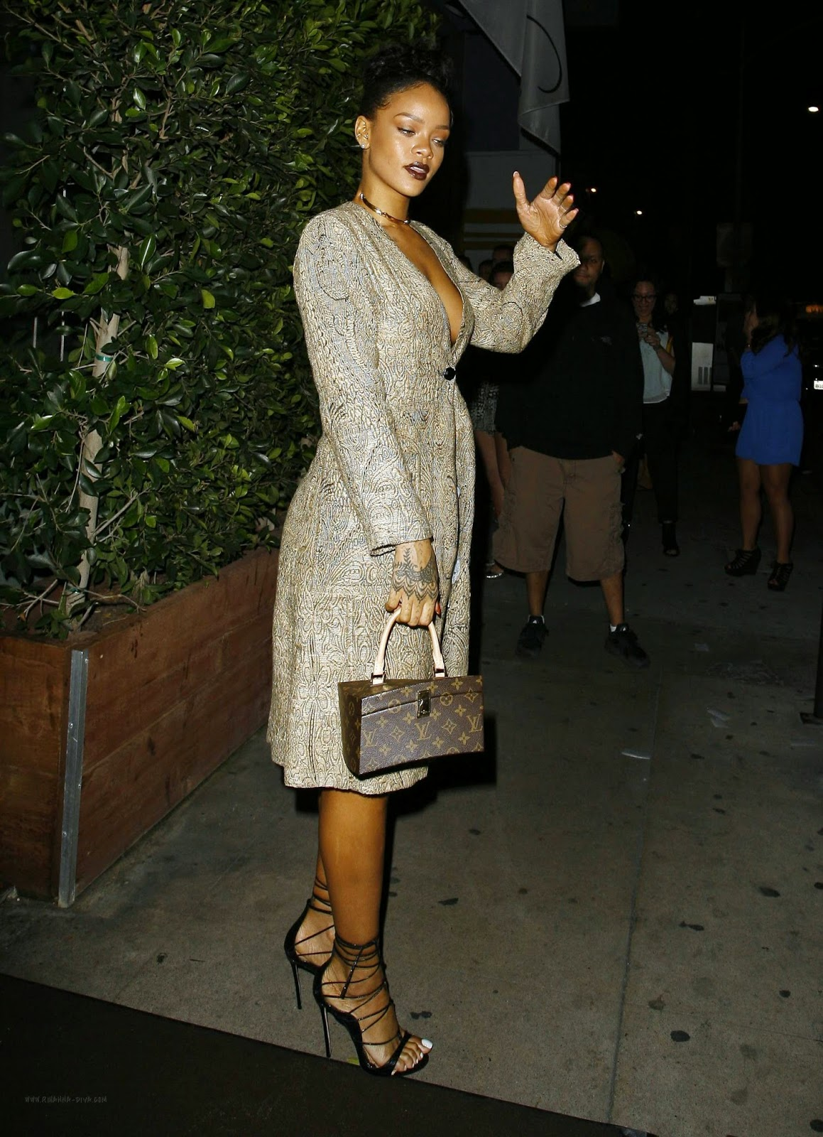 Singer, Actress, Fashion Designer @ Rihanna at Giorgio Baldi restaurant in L.A