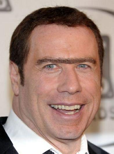 E se as celebridades tivessem monocelha?, imagens, humor,unibrow, monocelha, John Travolta, eu adoro morar na internet