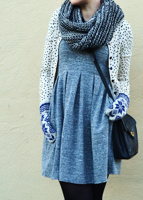 fleur d'elise, fair isle, winter, fashion, seattle, madewell dress, uniqlo, vintage coach