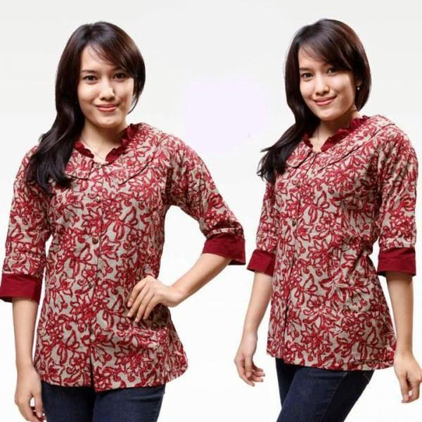 Model-Baju-Batik-Wanita-Untuk-Kerja