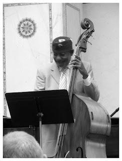 Yosef Ben Israel - Double bass - Ben Waltzer - Chicago Jazz Festival 2015   Photograph by Tom Bowser