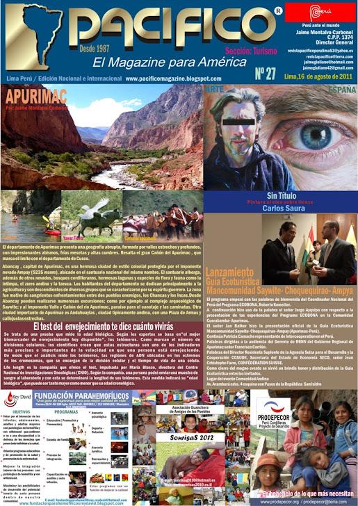 Revista Pacífico Nº 27 Turismo