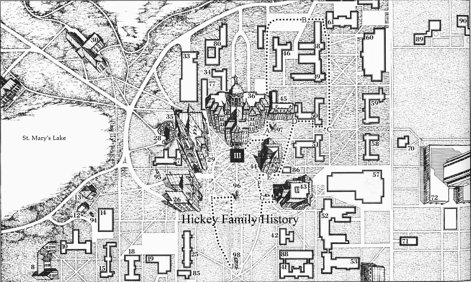 the laundry site is shown as building 33 on the map the outlined building includes the 1957 addition building 77 was the old geology building 1855