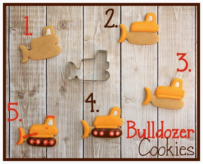 How to make decorated bulldozer cookies