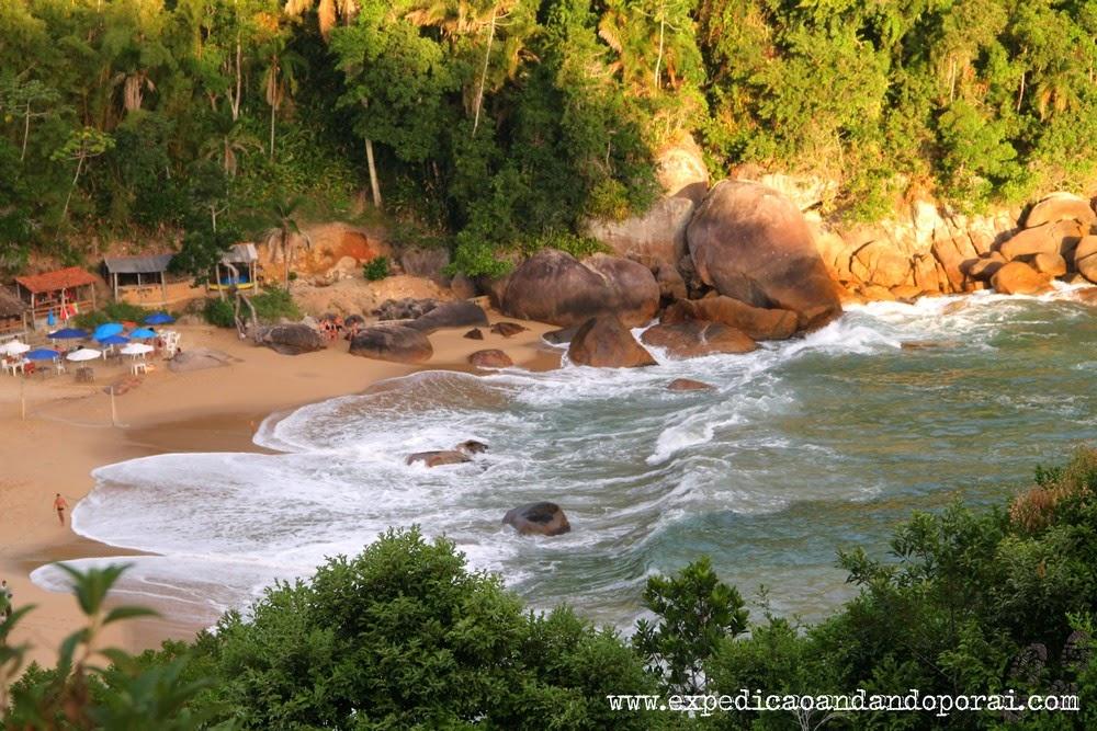 Praia de Ponta Negra, travessia da Joatinga
