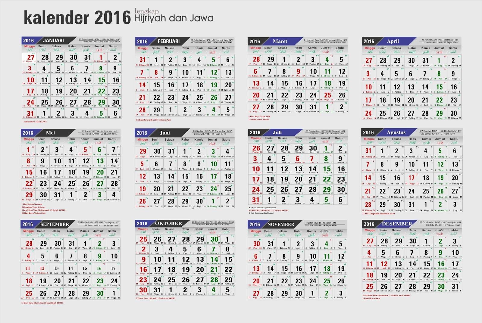 gambar kalender 2016 berukuran besar jelas dan bisa diprint. Black Bedroom Furniture Sets. Home Design Ideas