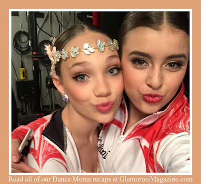 L to R Maddie Ziegler and Kalani Hilliker, stars of Dance Moms on Lifetime