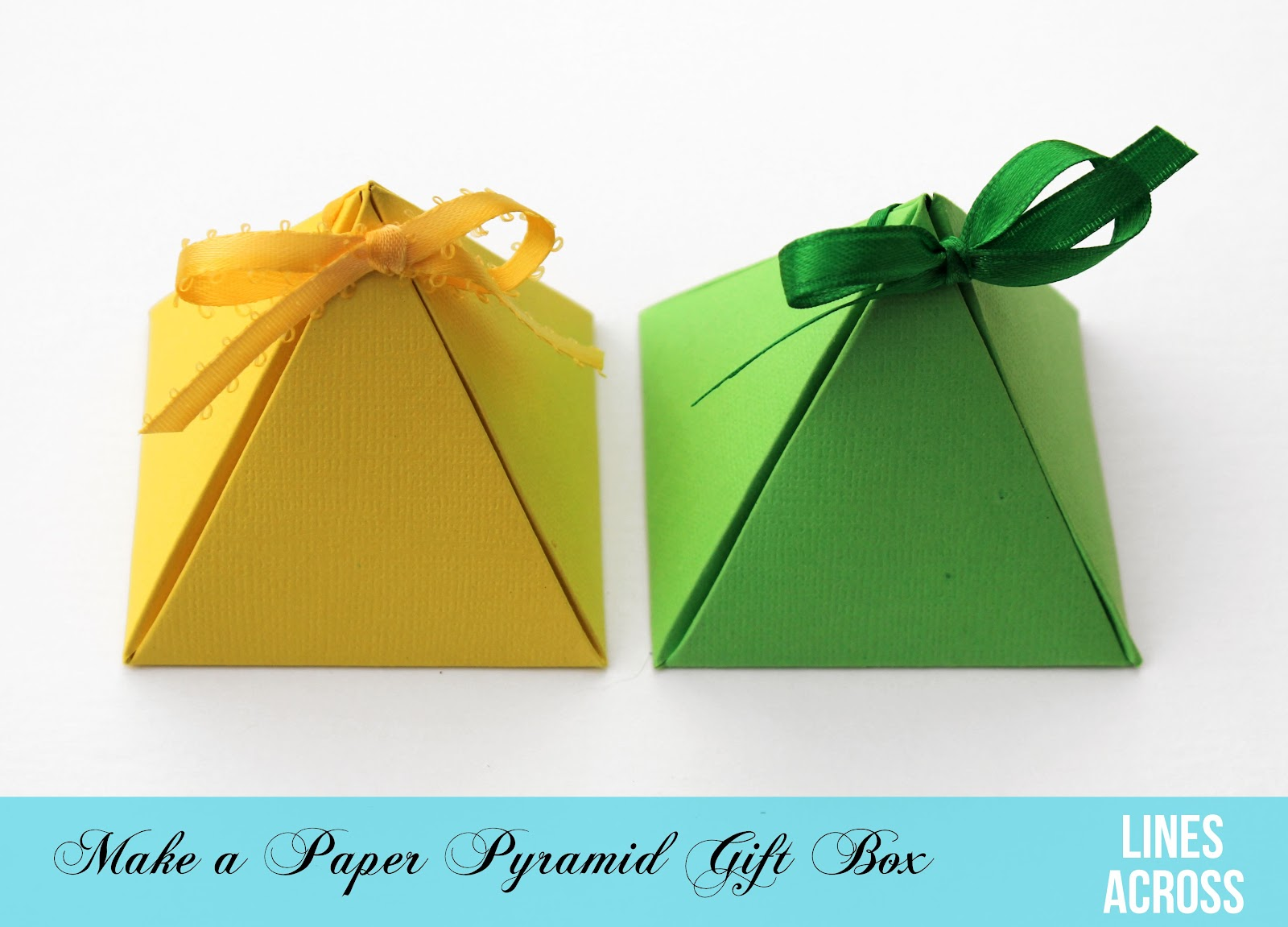 Paper pyramid gift boxes lines across lately ive been a little obsessed with making different kinds of gift boxes so when i came across these pyramid shaped diy gift boxes i knew i had to negle