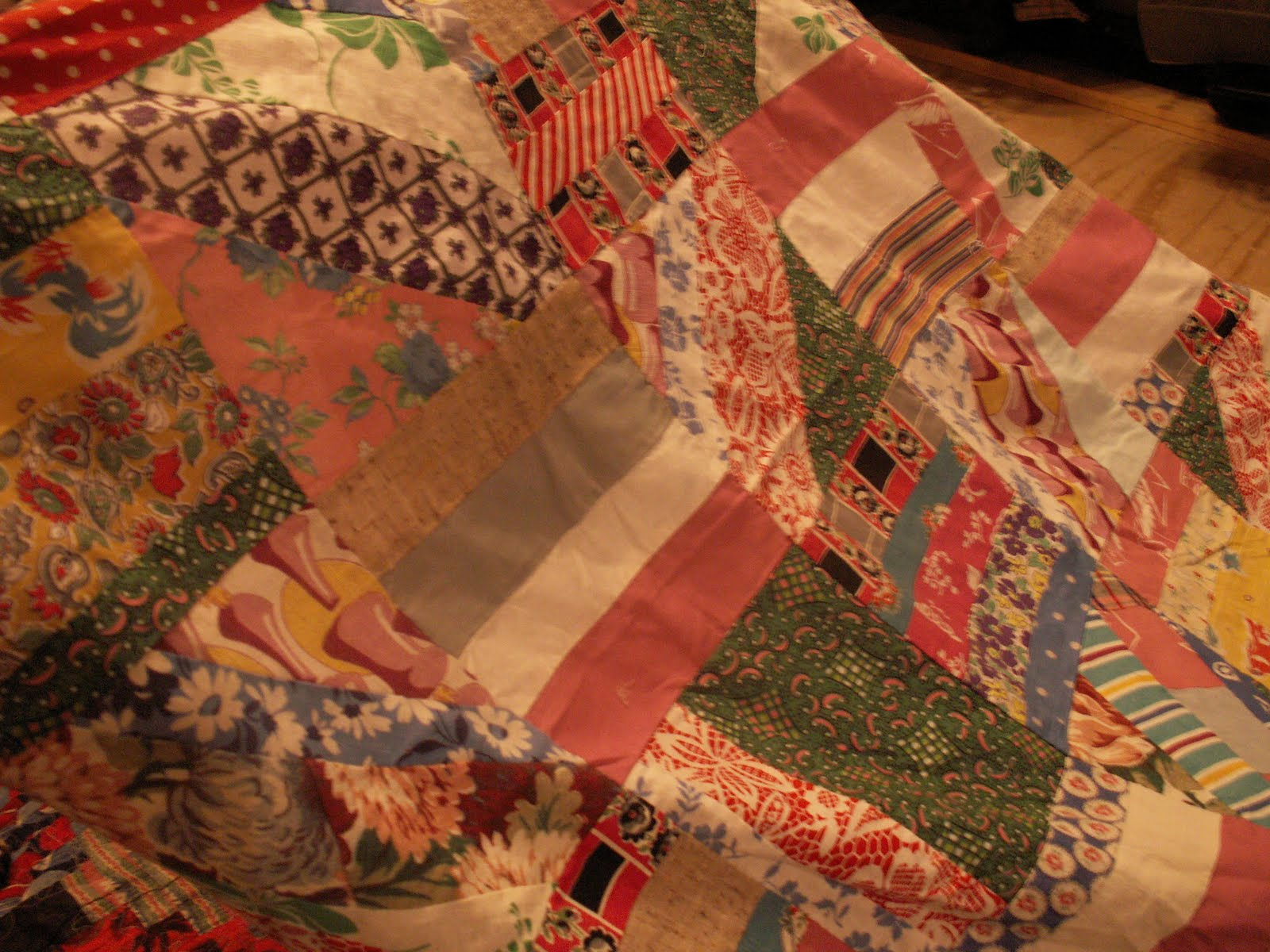 Granny in a nutshell frugal granny antique quilt top finds for What to do with an old quilt