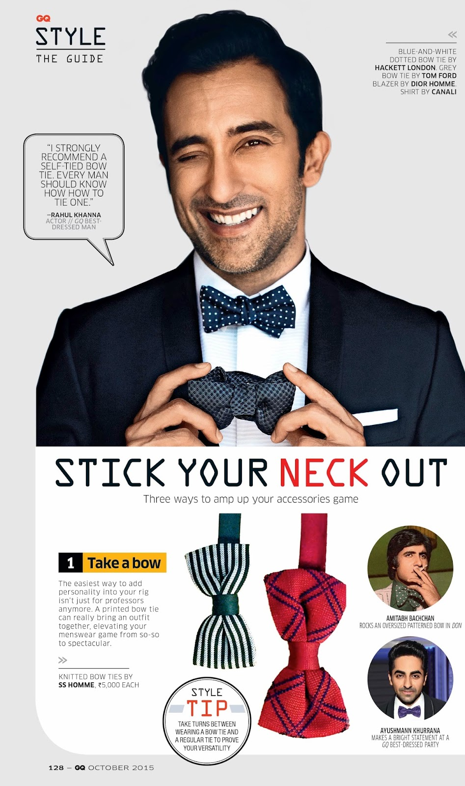 Mr khanna gq india october 2015 im pro bow and take a strong stance on self tying ccuart Choice Image