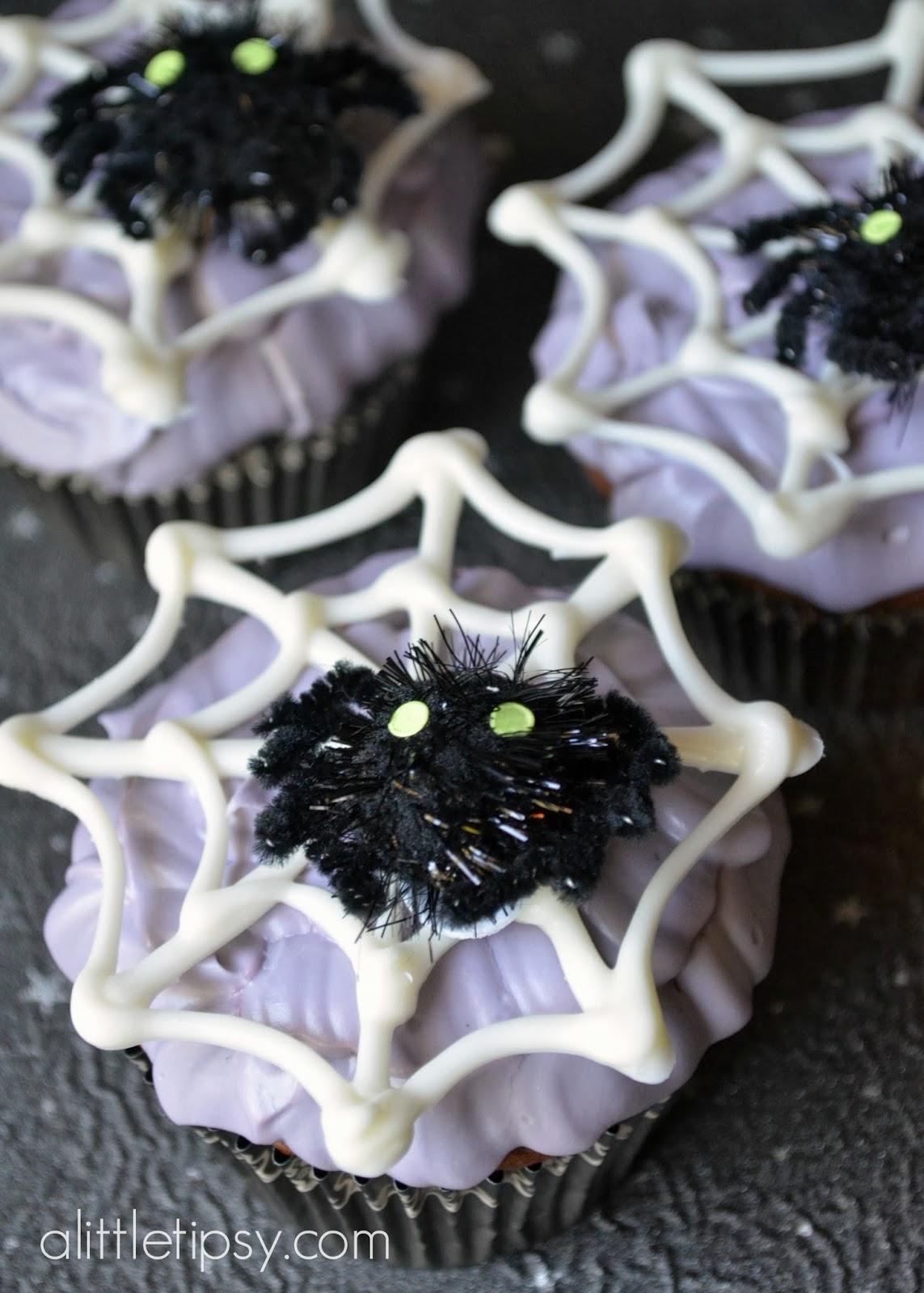 Halloween Spider Cupcakes 12monthsofmartha A Little Tipsy