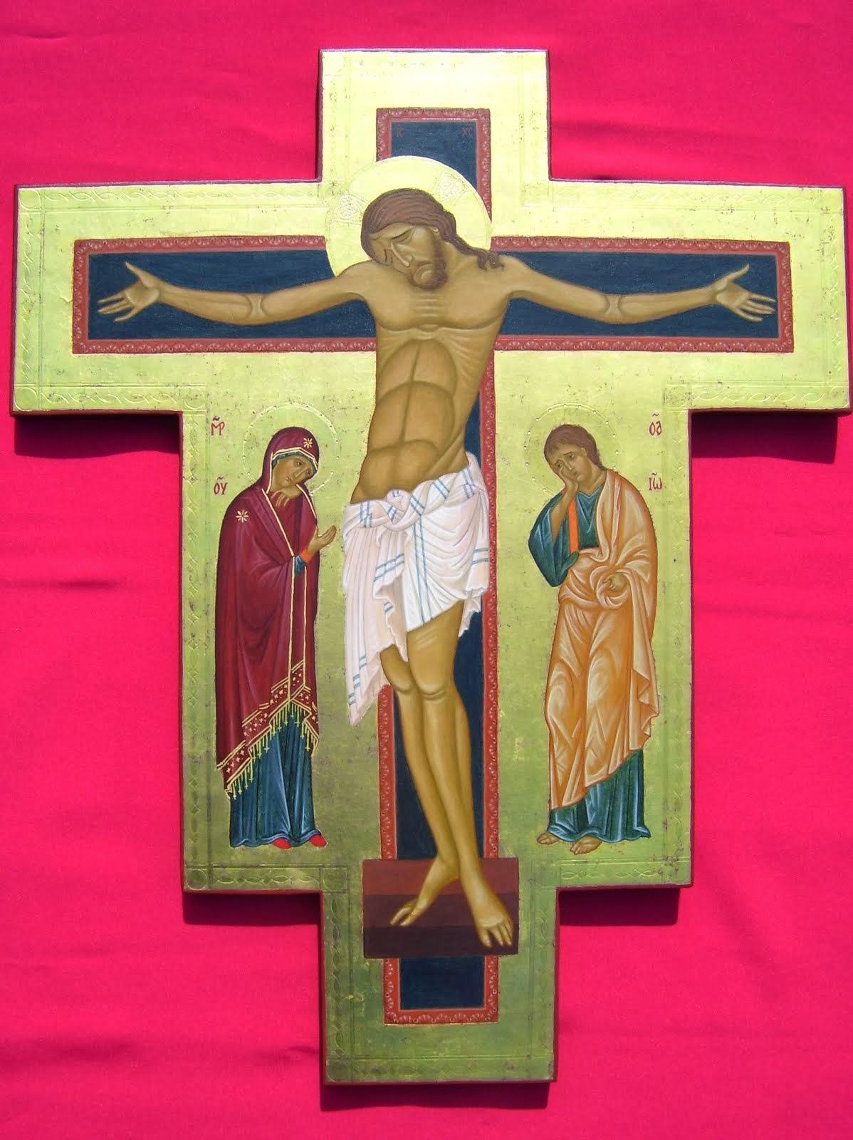 Crucifixión (basado en obras de Giunta Pisano)