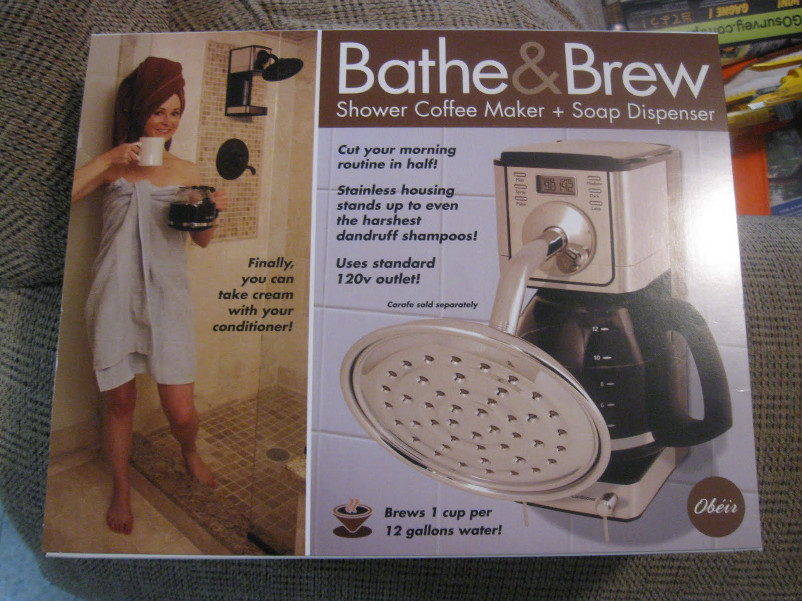 Coffee Maker Funny Taste : Taste and See God s Goodness: Bathe and Brew Shower Coffee Maker?