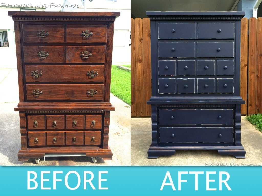 distressed blue furniture. I Love How Current It Looks. You Would Never Know Dated Looked Before. Distressed Blue Furniture E