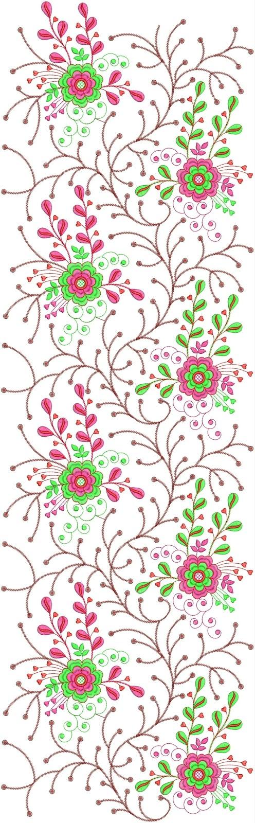 Embdesigntube modern long allover pattern designs