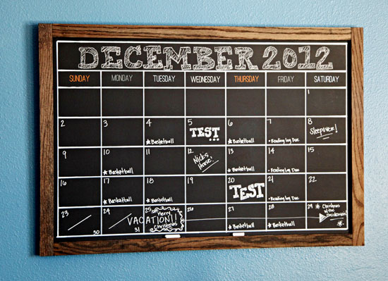 Diy Calendar For School : Iheart organizing our favorite tips for a