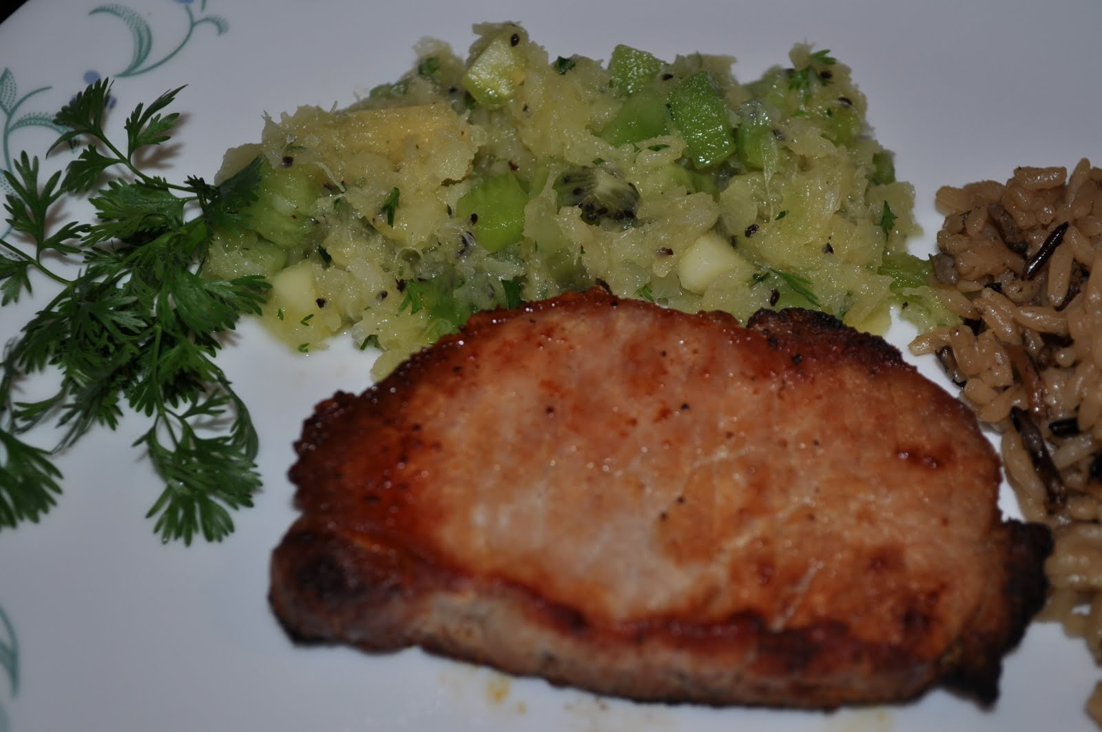 My Year of 25: Recipe #38 - Pork Chops with Tropical Salsa