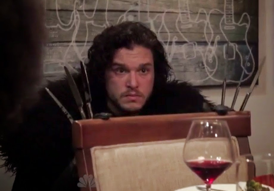 WATCH Seth Meyers Brings Jon Snow to a Dinner Party