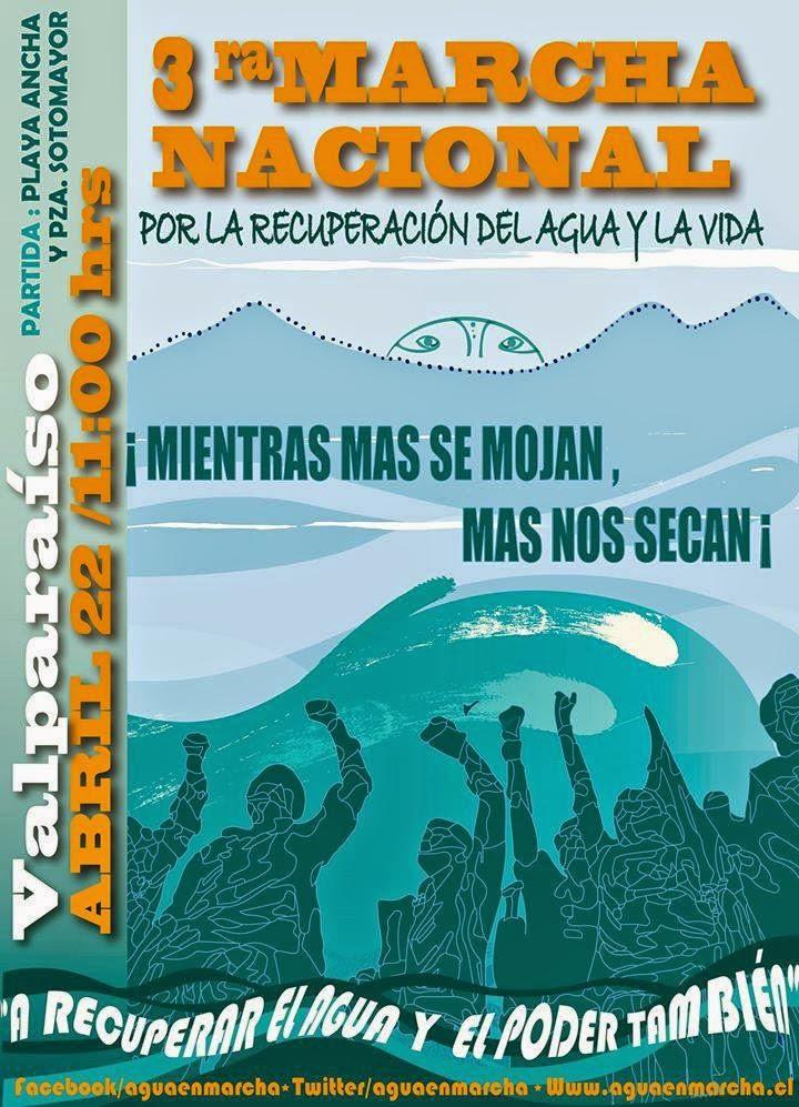 Marcha nacional por la recuperación del agua y la vida
