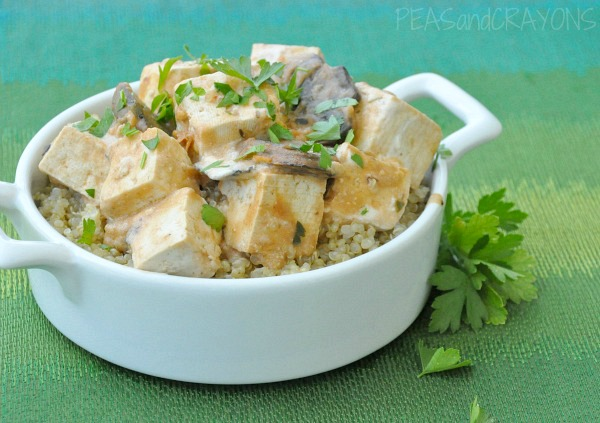 Tofu Stroganoff with Fluffy Quinoa