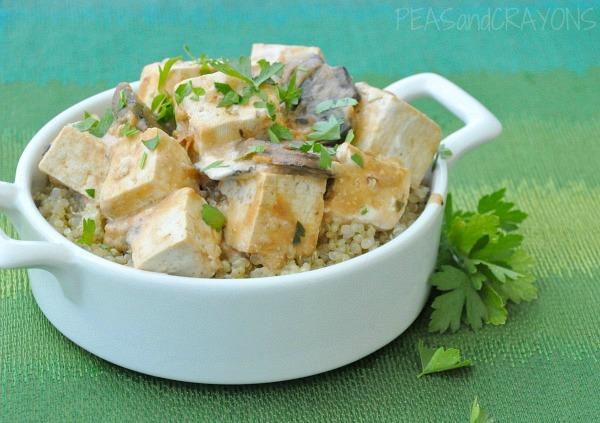 Tofu Stroganoff with Fluffy Quinoa