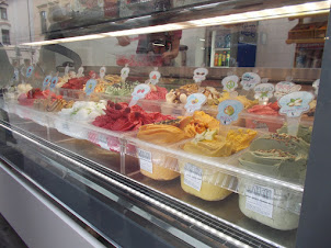 Local Krakow icecreams.A delicacy and speciality of the city.
