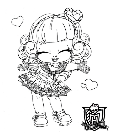 Monster High dibujos para imprimir y colorear: Monster ...
