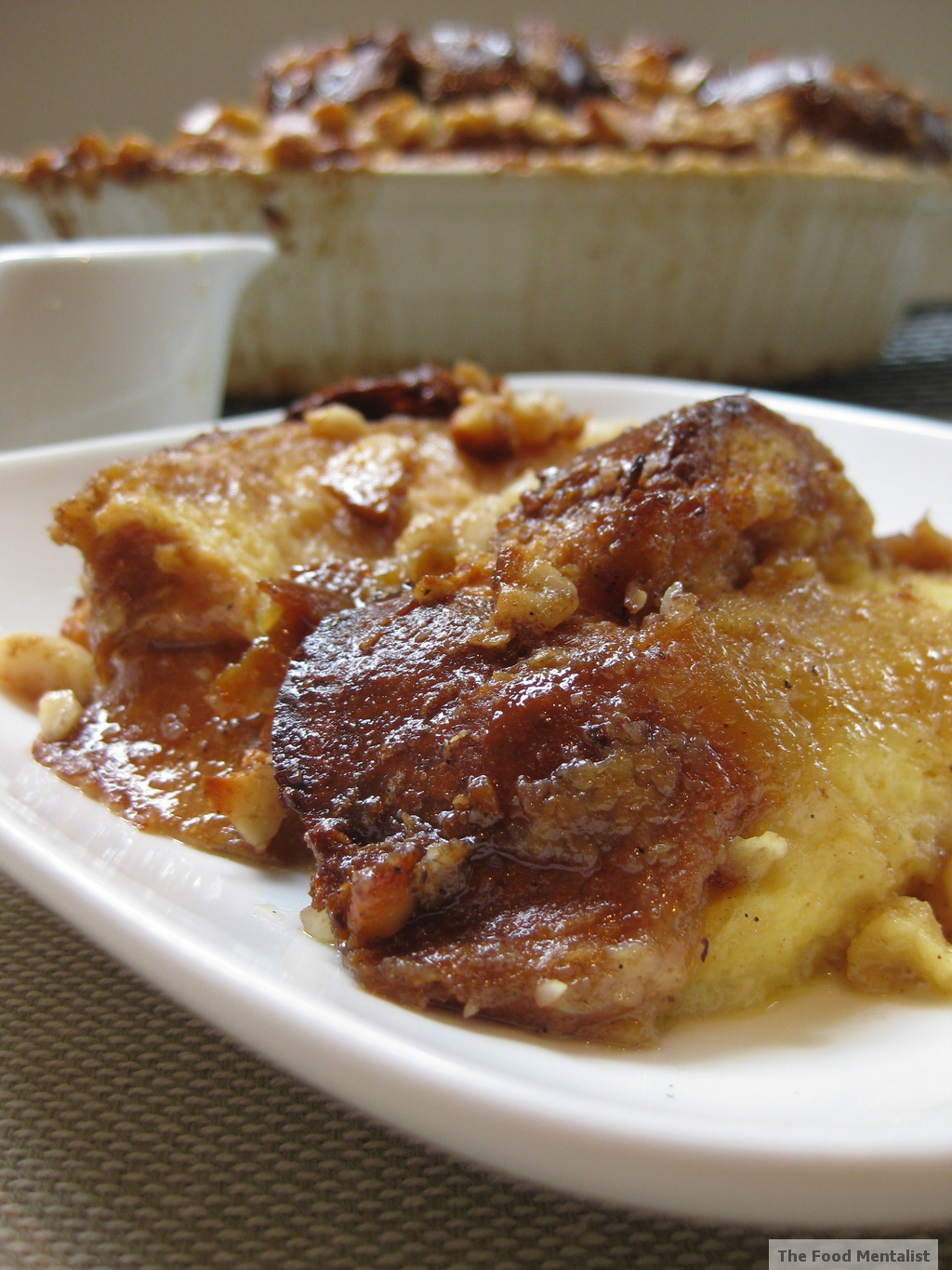 The Food Mentalist: Macadamia Praline Bread & Butter Pudding