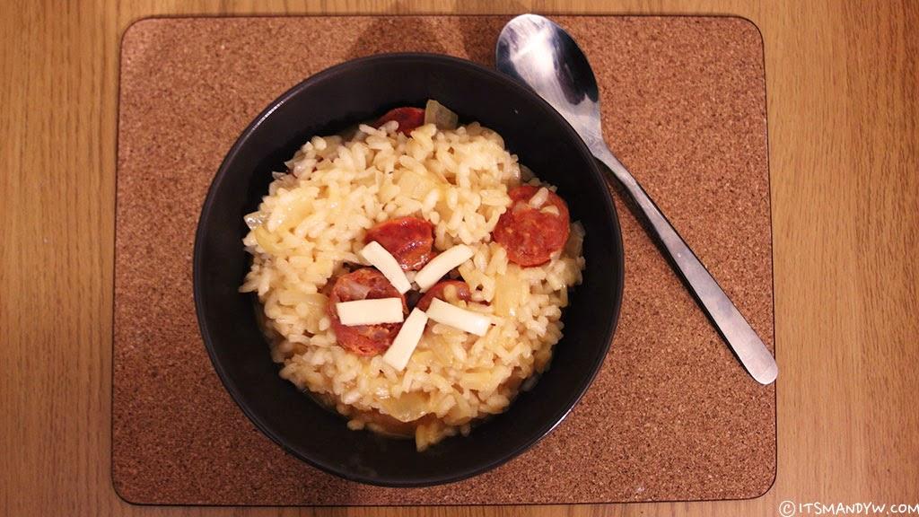 【餐點】Chorizo。西班牙香腸 義大利燉飯