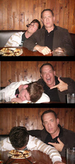 Tom Hanks with drunk kid, Tom Hanks with drunk guy, funny pictures