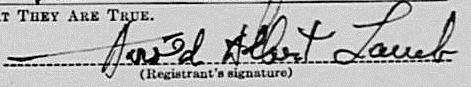 Harold Lamb's signature