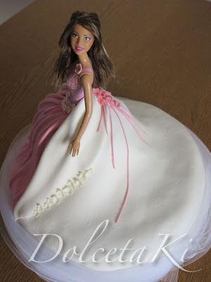 torta barbie vestito da sposa
