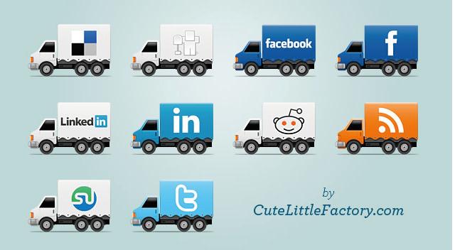 http://www.cutelittlefactory.com/freebies/social-trucks-icons/