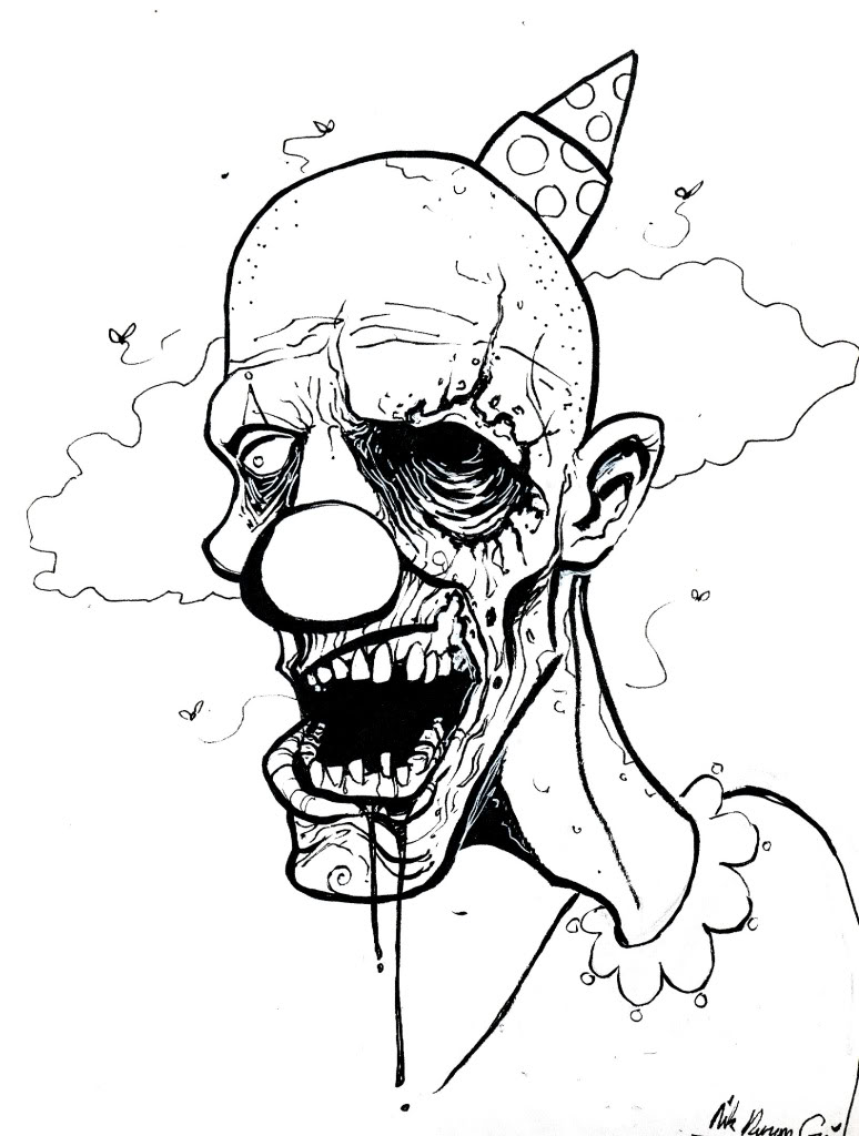 How To Draw Chucky 2 together with  together with Easy To Draw Trippy Designs further Halloween Coloring Pictures in addition Halloween Drawings To Color. on scary clown costume for s