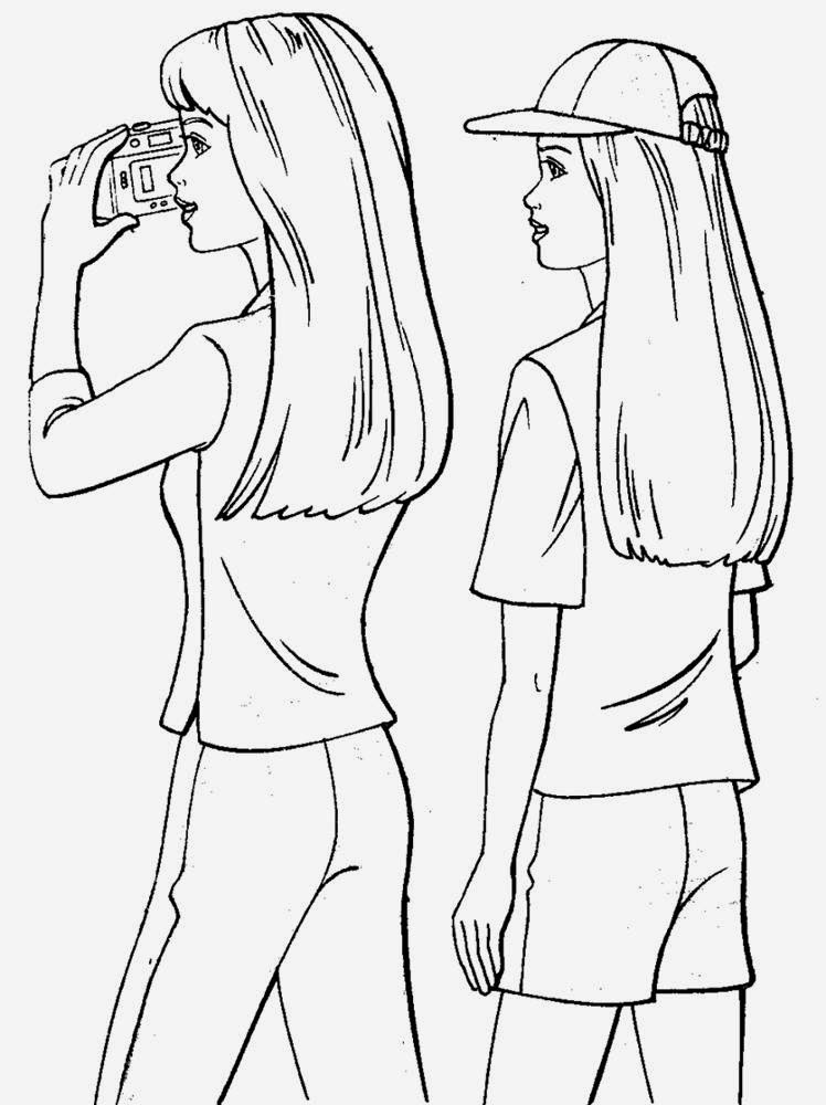 Coloring Pages Of Barbie And Ken