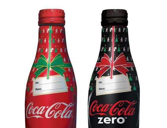 Garrafas de coca-cola alumínio Natal 2014 - para presentear!