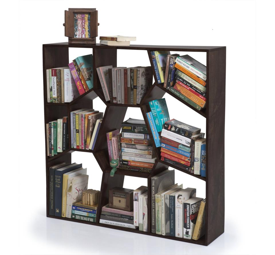 ideas home smartness bookshelf honeycomb fresh shelf hexagon designing pretty design