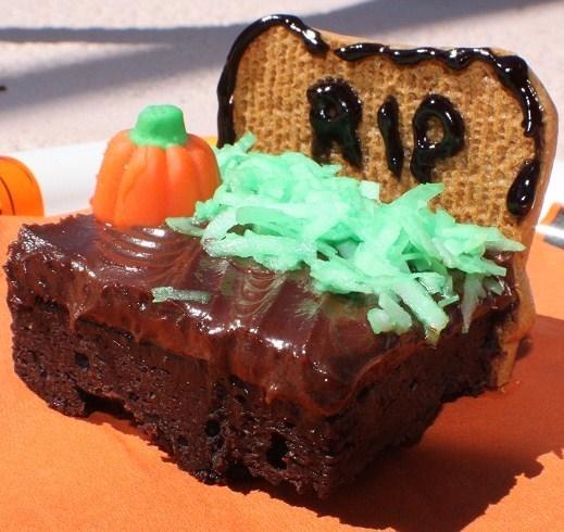 halloween tombstone brownie recipe - Halloween Brownie Recipe