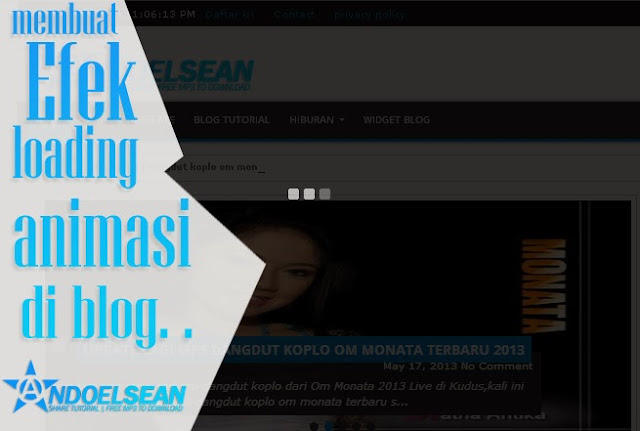 cara membuat animasi loading di blog
