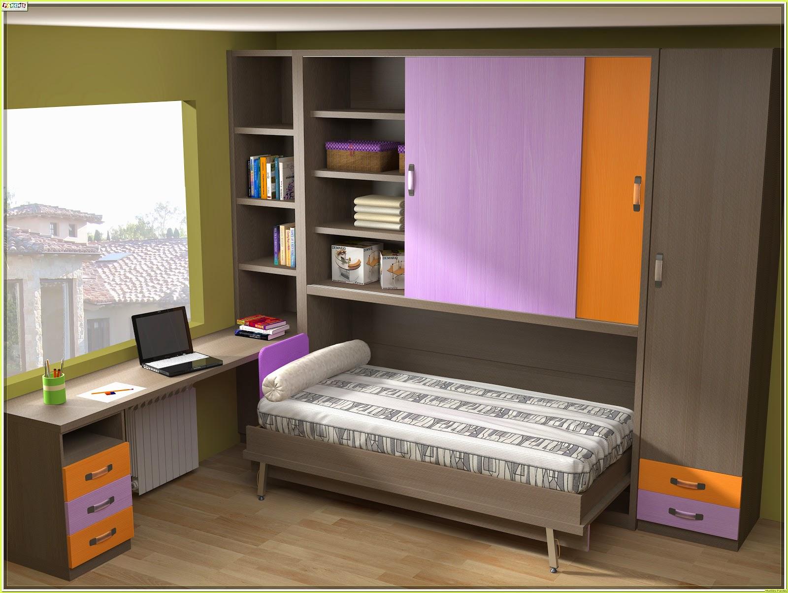 Muebles juveniles dormitorios infantiles y habitaciones - Camas plegables de pared ...