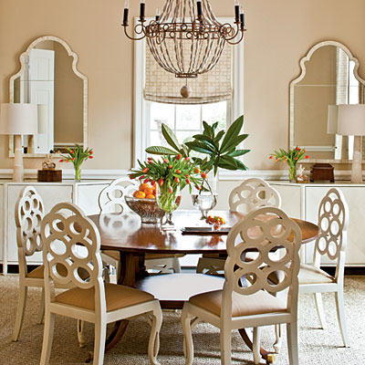 Linda beam an affection for staging kaboom on this for Southern living dining room ideas