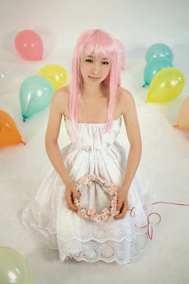 Tasha cosplay as Megurine Luka from Vocaloid Just be Friends
